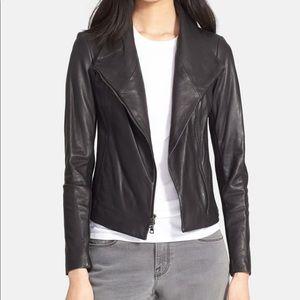 Vince scuba leather jacket in black xxs
